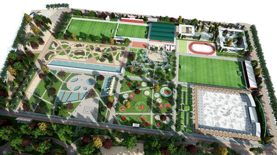Luz verde a las obras sobre el gran parque del Canal que sustituirá al campo de golf