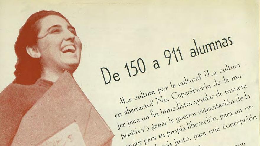 Página dedicada a la labor de Amparo Poch en el Casal de la Dona Treballadora durante la Guerra Civil, publicada en la revista Mujeres Libres, nº 12, pág. 17. 1938.