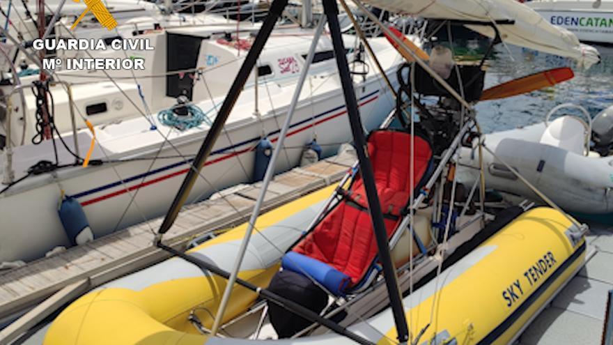 Interceptada una embarcación convertible en aeronave volando en el sur de Tenerife