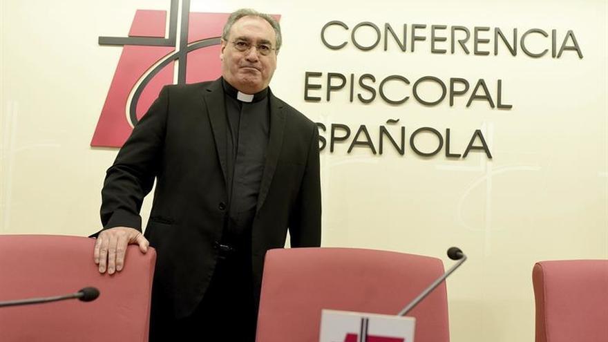 El portavoz de la Conferencia Episcopal Espapola, el arzobispo Gil Tamayo