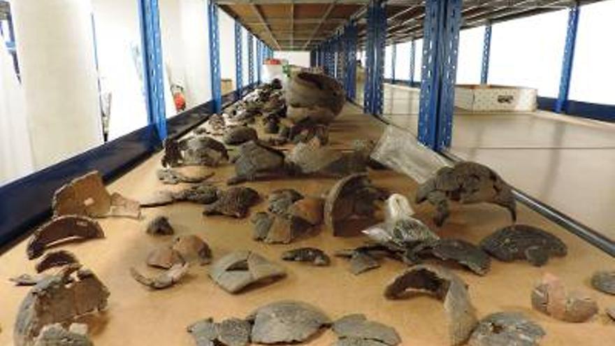 Piezas de la colección arqueológica.