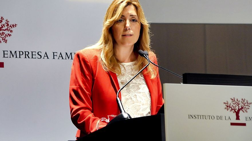 """Susana Díaz pide no """"regatear ni esfuerzo ni financiación ni colaboración"""" en la lucha contra la violencia machista"""