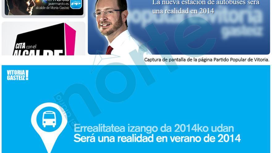 Ejemplo de publicidas política con lemas 'inspirados' en las campañas del Ayuntamiento.