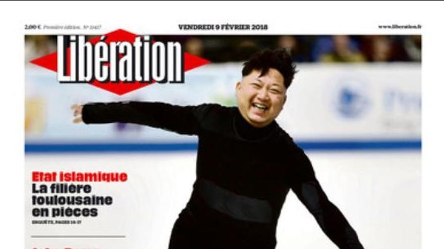 Portada de Libération con Kim Jong-Un