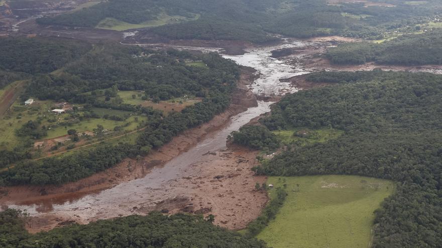 Vista aérea tomada durante la visita del presidente Jair Bolsonaro a la zona