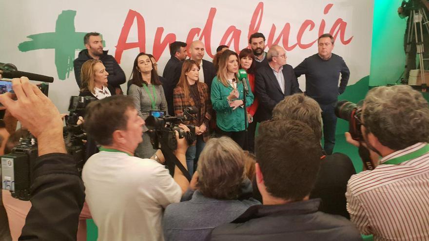 Susana Díaz valora los resultados de las elecciones andaluzas 2018