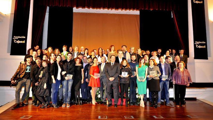 Foto de familia de los premios Asecan