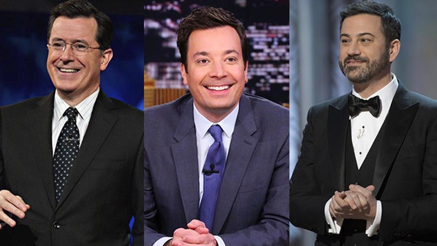 Stephen Colbert, Jimmy Fallon y Jimmy Kimmel
