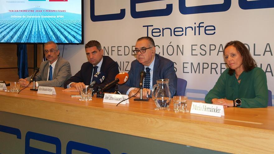 Presentación del informe de coyuntura de la CEOE Tenerife.