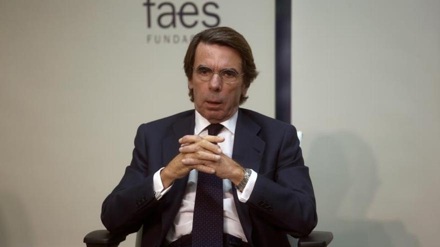 Aznar apuesta por una alianza de PP y PSOE que no esté encabezada por Pedro Sánchez