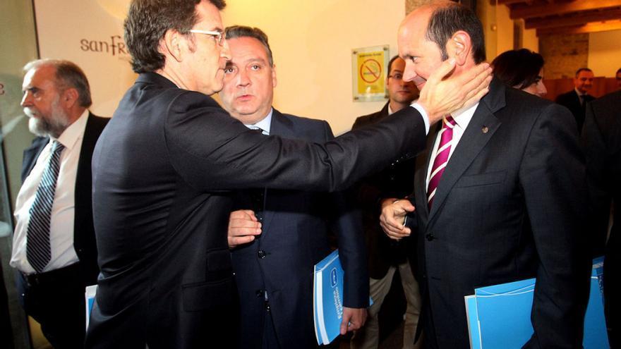 Feijóo y Rafael Louzán, en una imagen de archivo / PPdeG