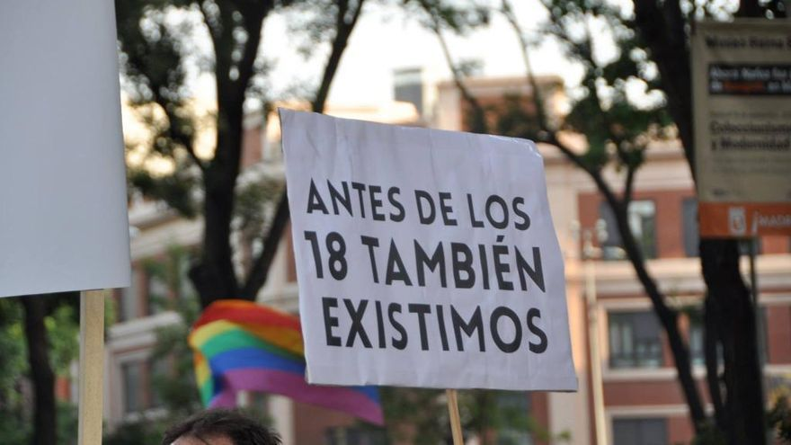 Pancarta de la Fundación Daniela en el Orgullo 2015 / Twitter: @Danielafund