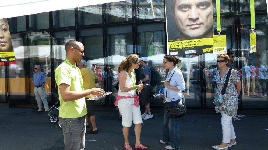 Jornadas de Refugiados en Suiza en las que la Organización Suiza de Ayuda al Refugiado (OSAR) trata de sensibilizar a la población sobre los asuntos relacionados con los demandantes de asilo./ Facebook de OSAR.