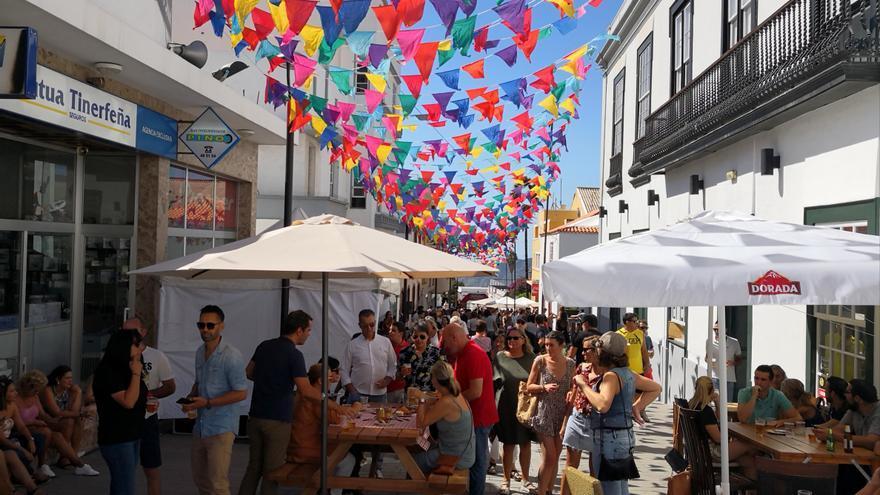Imagen de la primera edición de 'OktoberFest',  celebrada el pasado sábado, organizada por el Ayuntamiento de El Paso y la Asociación de Empresarios El Paso Crece.