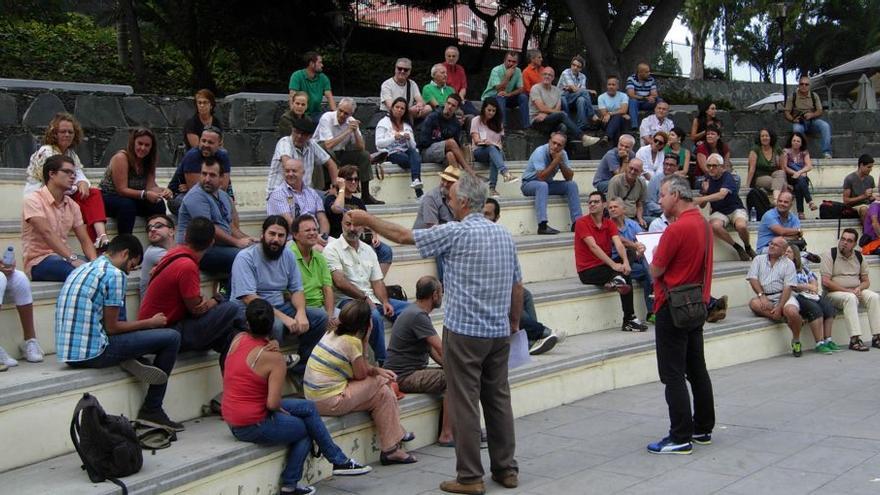 Asamblea de Ahora en Común celebrada en Las Palmas de Gran Canaria.