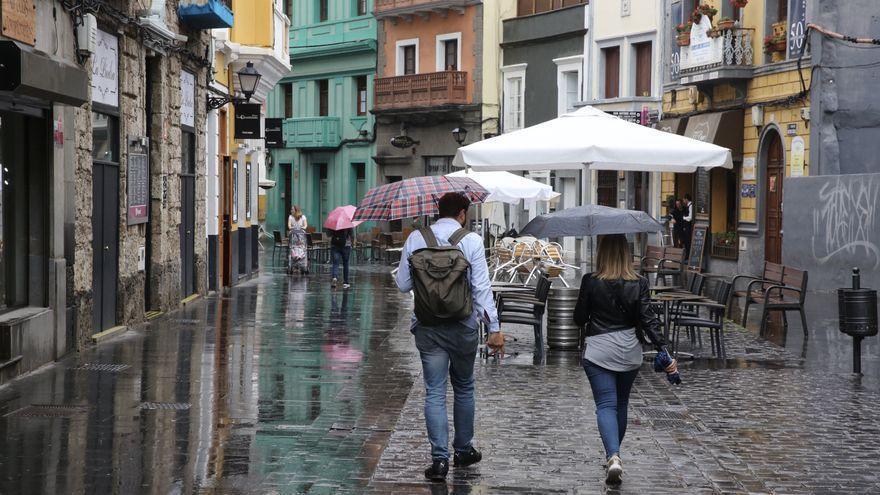 Domingo pasado por agua en Canarias, con posibilidad de nieve en Tenerife y La Palma