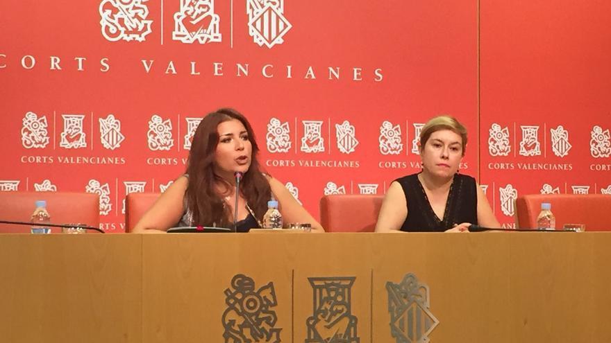 Mari Carmen Sánchez, en las Corts Valencianes.