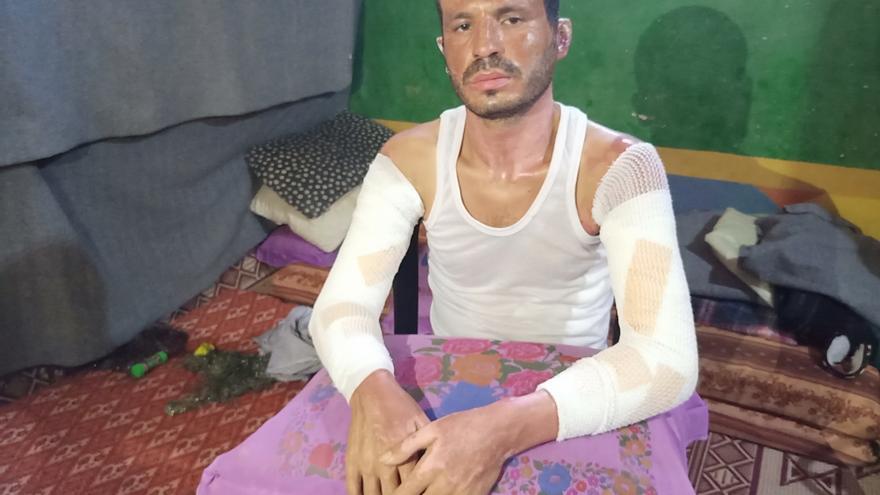 Ahmad Abdalá Abu Tajún vive en el campo de refugiados y refugiadas de Yabalia en Gaza.