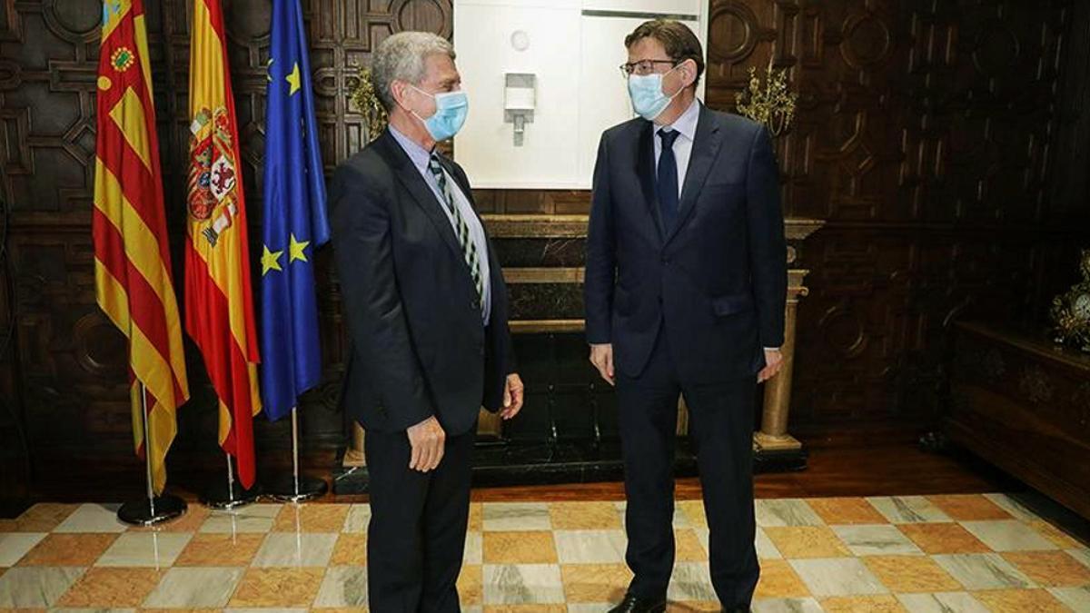 José Manuel Pérez Tornero con Ximo Puig