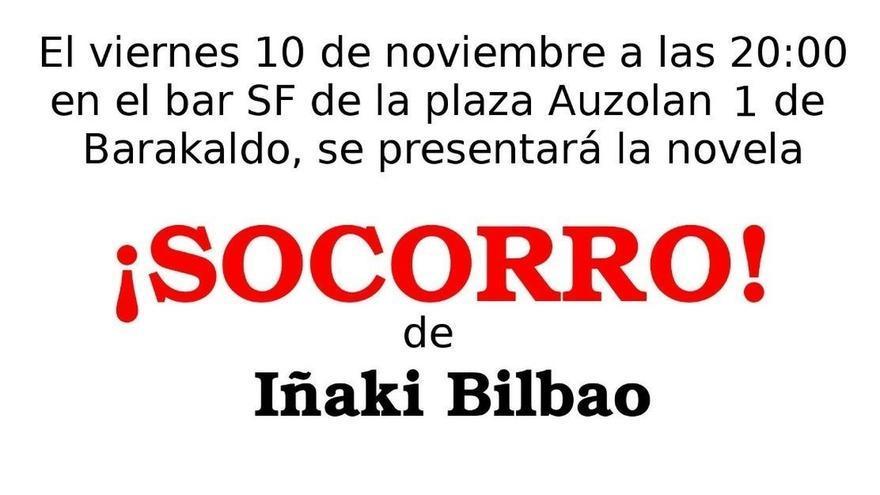 El pintor y profesor de la UPV/EHU Iñaki Bilbao presentará este viernes en Barakaldo su novela '¡Socorro!'