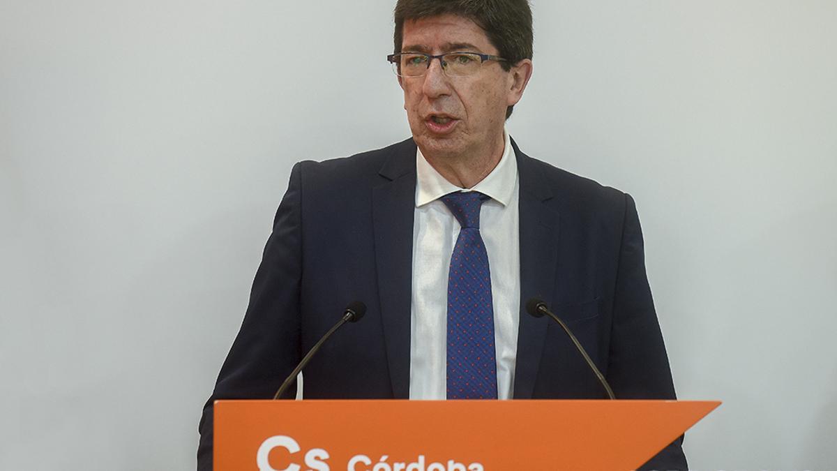 El portavoz de Ciudadanos (Cs) en Andalucía y vicepresidente de la Junta, Juan Marín.