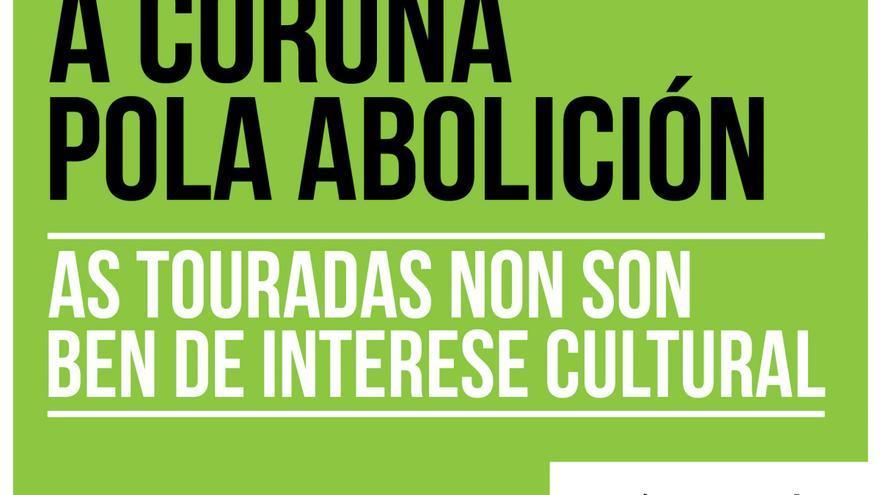 Uno de los carteles censurados en A Coruña