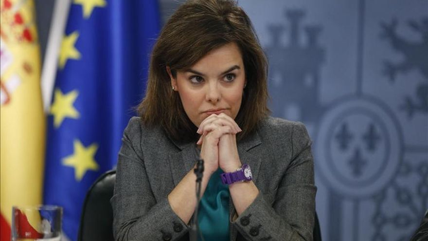 """Sáenz de Santamaría da la """"bienvenida"""" a que Aguirre respalde reformas ya en marcha"""