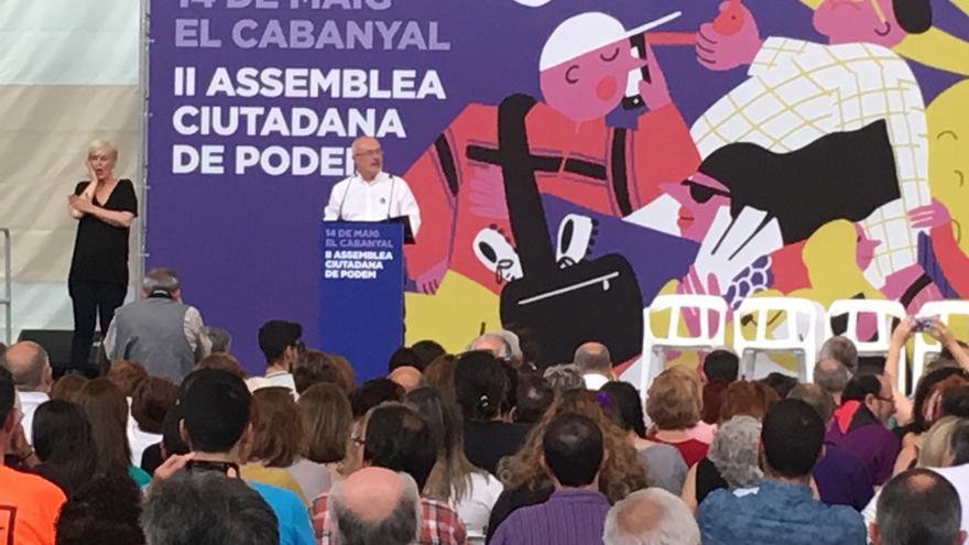 Antonio Montiel se dirige a la segunda Asamblea Ciudadana Valenciana de Podemos.