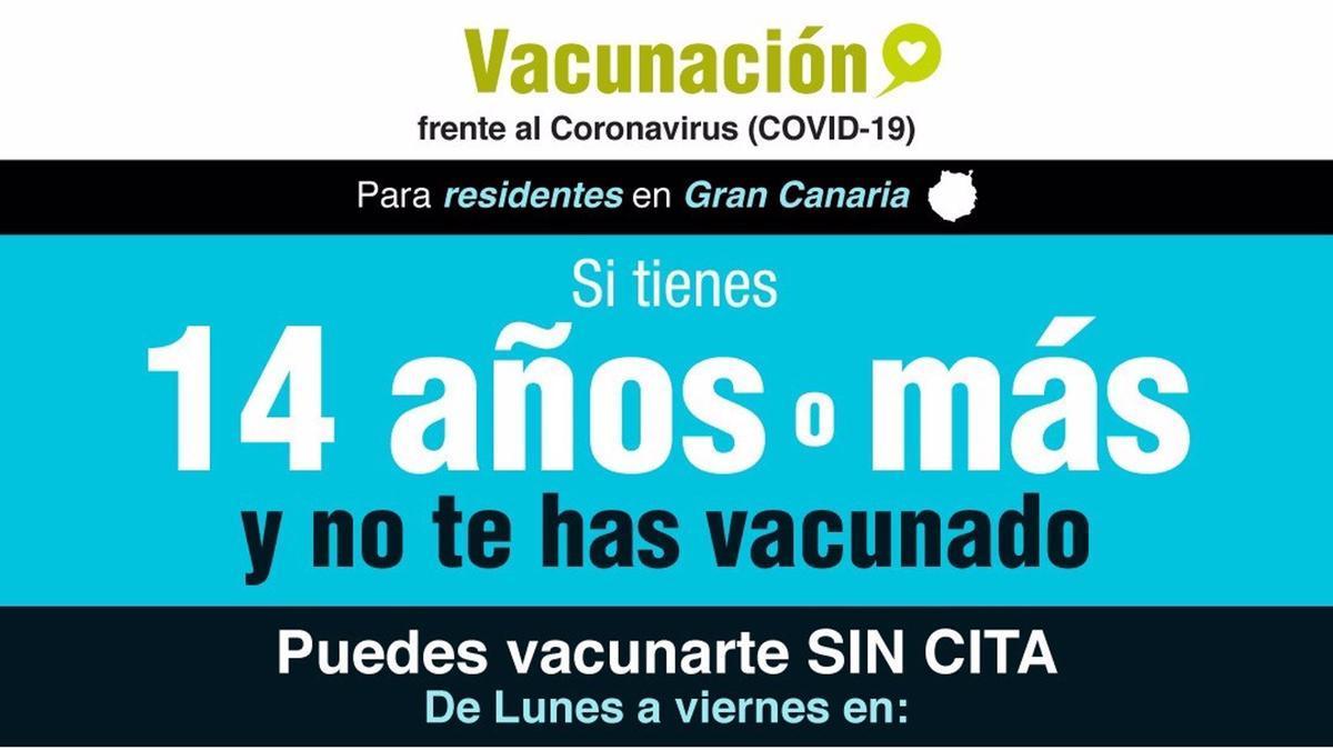 Se atenderá en los puntos de vacunación masiva de ambas islas