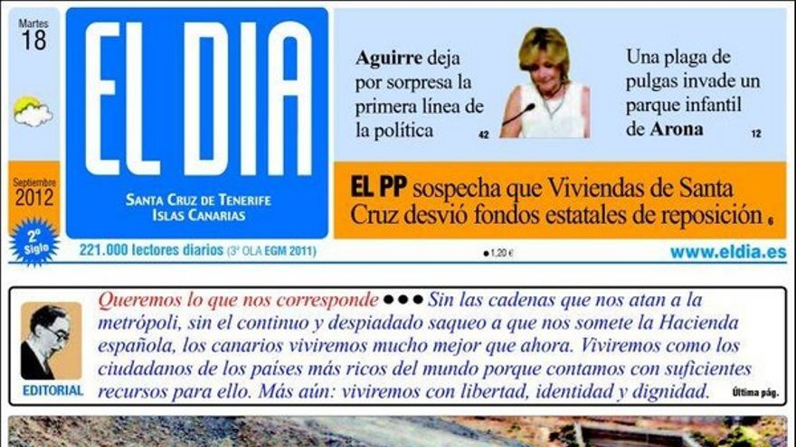 De las portadas del día (18/09/2012) #4