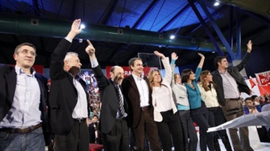 Patxi López En Un Mitin En Málaga Con Rubalcaba, Zapatero Y Griñán