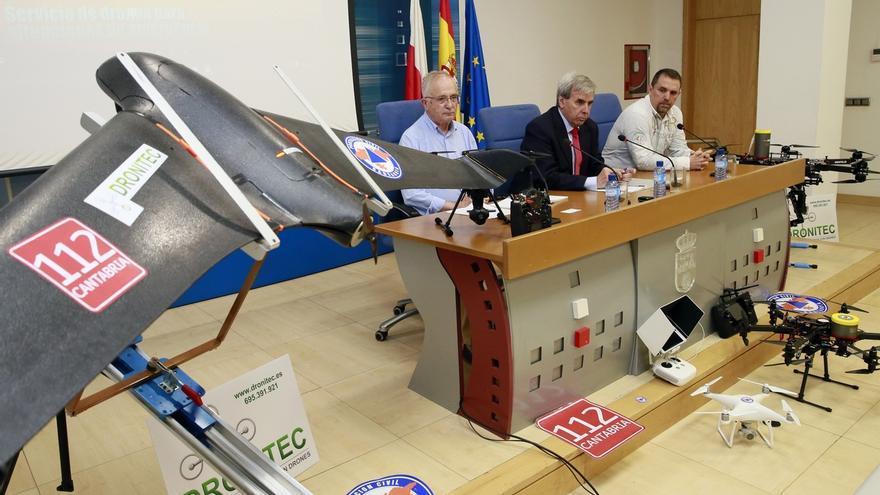 """Cantabria """"pionera"""" en disponer de un servicio de drones para uso en situaciones de emergencia"""
