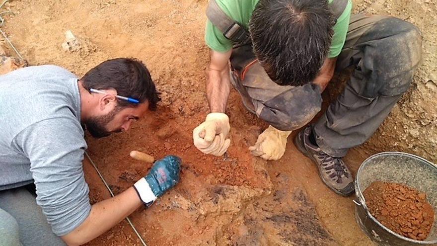 Una imagen de las excavaciones.