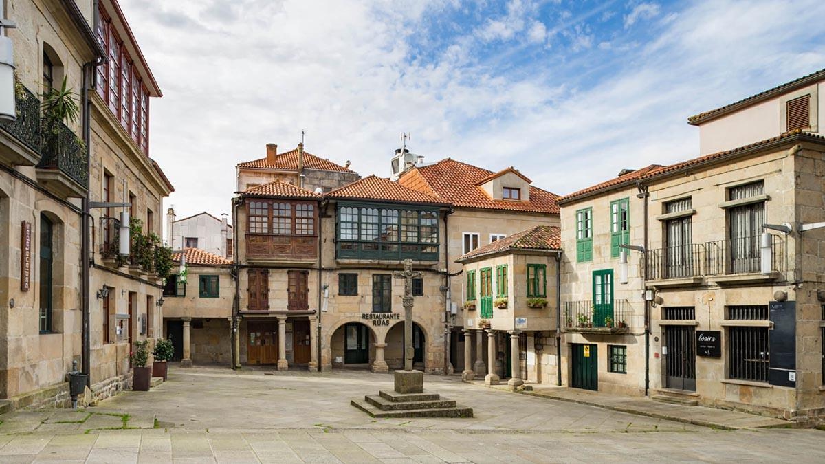 La Praza da Leña, uno de los rincones con más encanto de Pontevedra.
