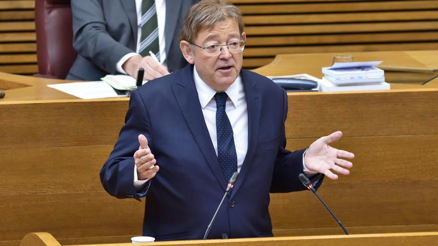 El president de la Generalitat, Ximo Puig, en la primera sesión de control de la legislatura