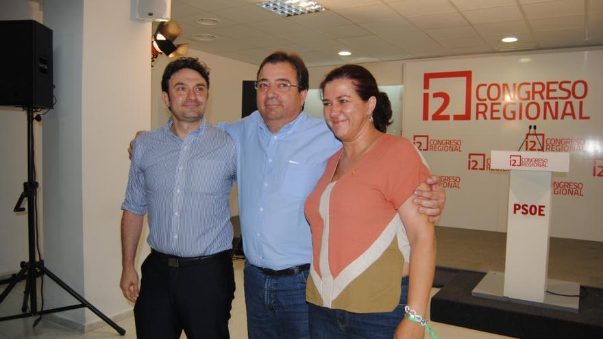 Fernández Vara, ganador de las primarias, con los otros dos candidatos / Foto: Jesús Conde