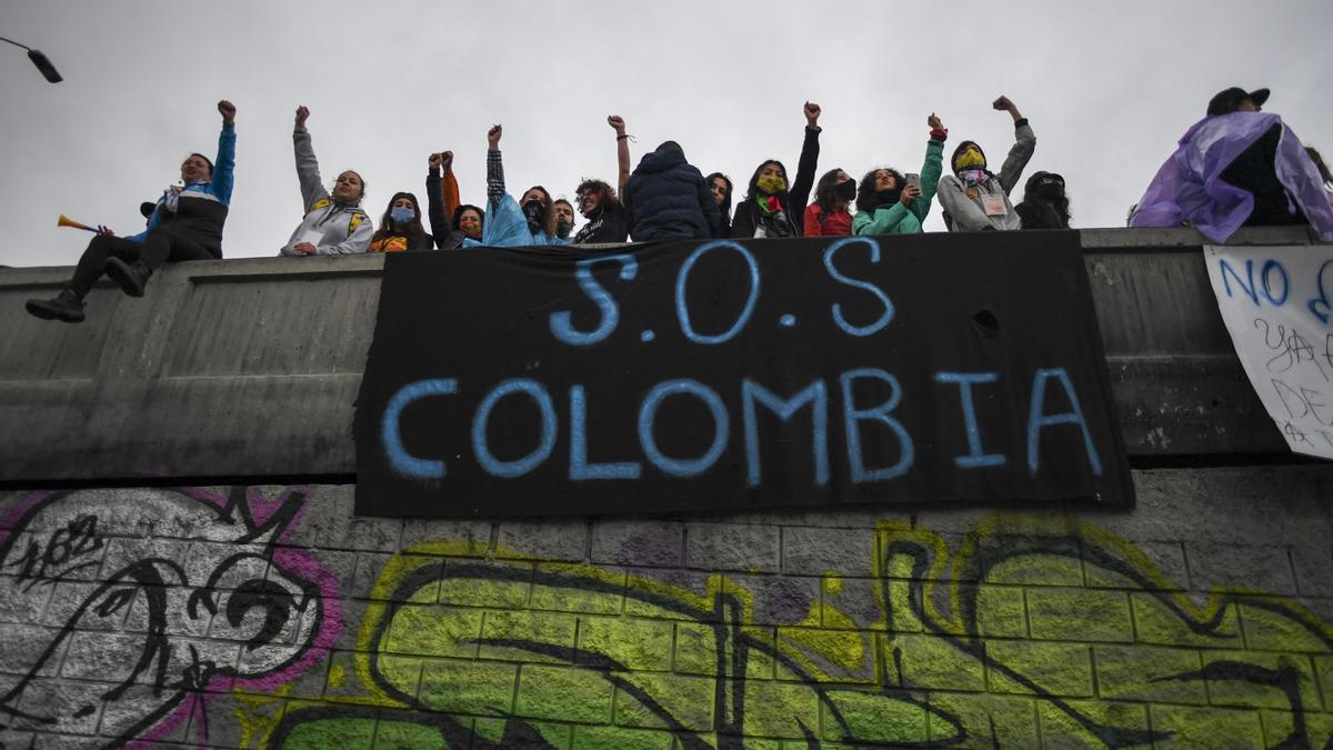 Las protestas continúan en Colombia
