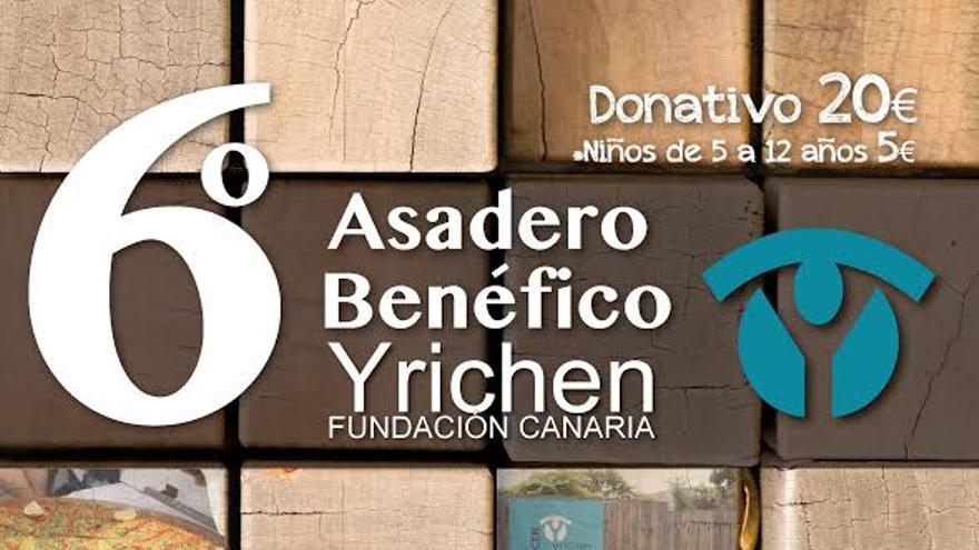 Cartel de la sexta edición del asadero benéfico de Yrichen.