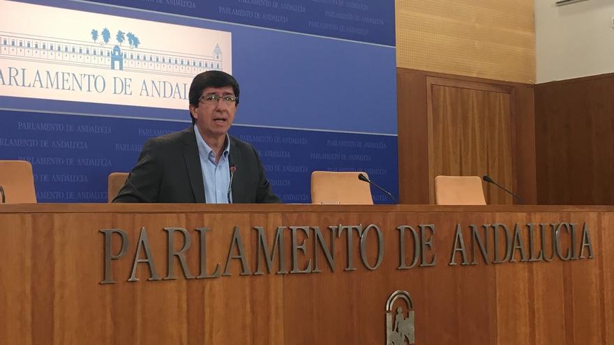 """Marín cree que Susana Díaz debía """"haber presionado"""" para incluir enmiendas que mejoren las inversiones en Andalucía"""