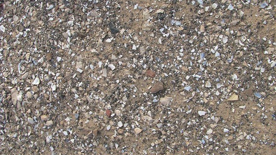 Conchero aborigen en Piedra Playa