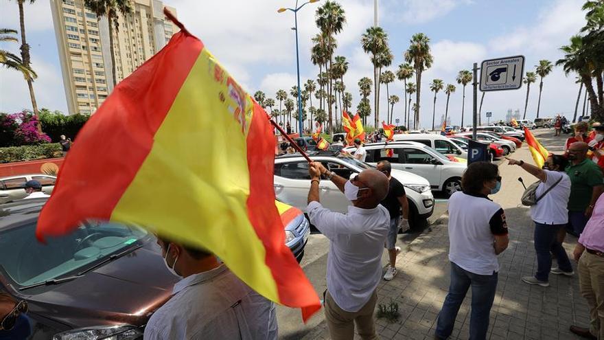 Protesta contra la gestión de la pandemia por parte del Gobierno de España convocada por Vox en Las Palmas de Gran Canaria