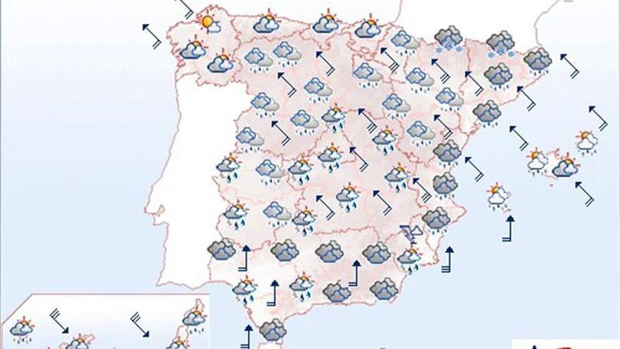 Mañana, lluvias fuertes en Andalucía, Cataluña y Comunidad Valenciana