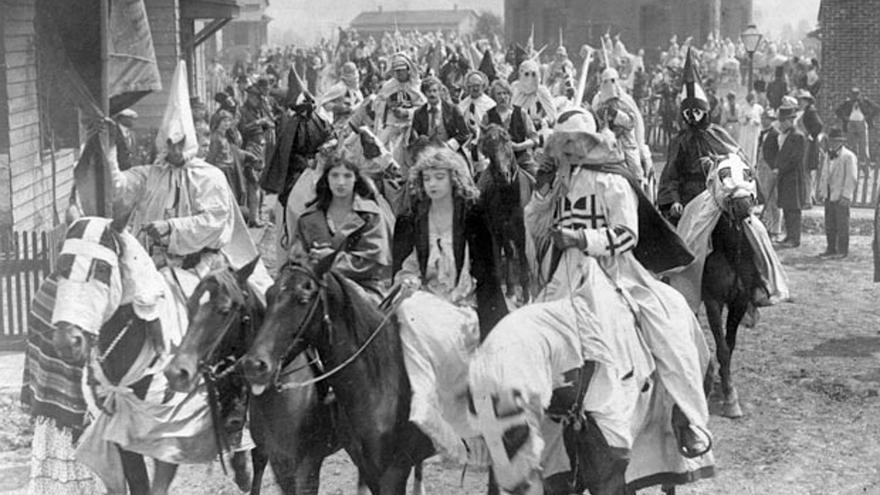 """'El nacimiento de una nación"""", de D.W. Griffith."""