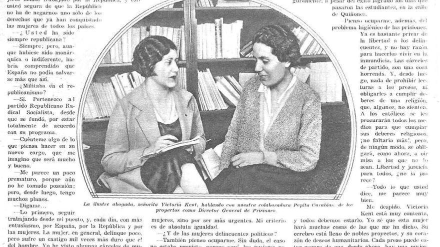 Josefina Carabias entrevista a Victoria Kent