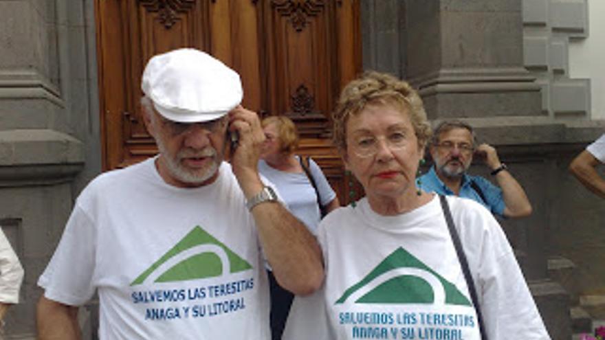 Lola Rebrox, presidenta de la Asociación de Amigos de Las Teresitas.
