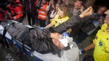 Persona herida en el ojo tras una carga policial en la calle Sardenya