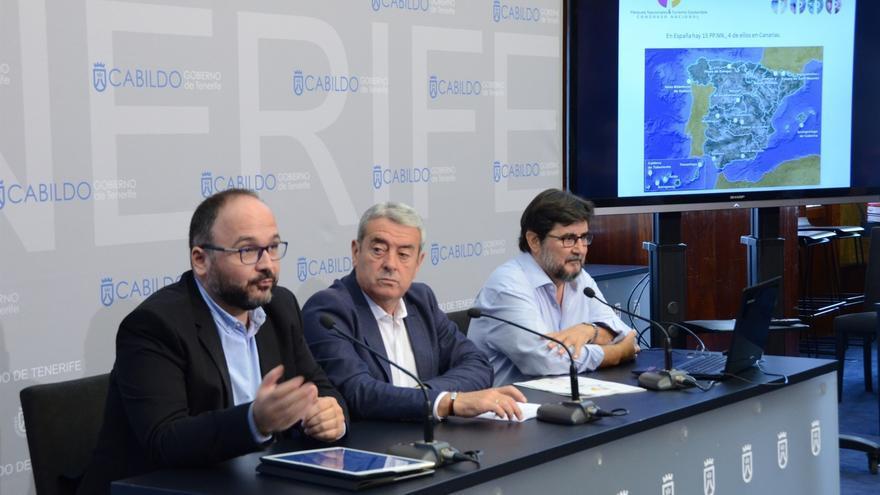 José Antonio Valbuena, Aurelio Abreu y Manuel Durbán, en la presentación de este lunes