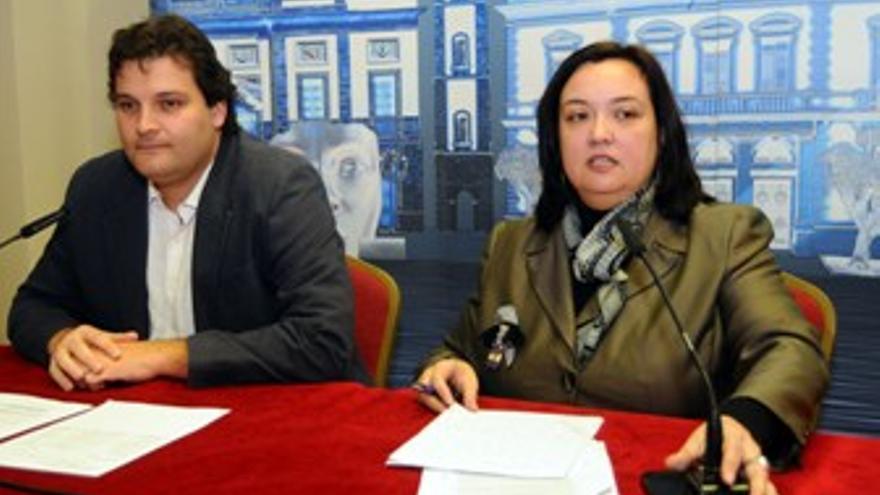 Rueda de prensa del PSC de Santa Cruz de Tenerife este viernes. (ACFI PRESS)