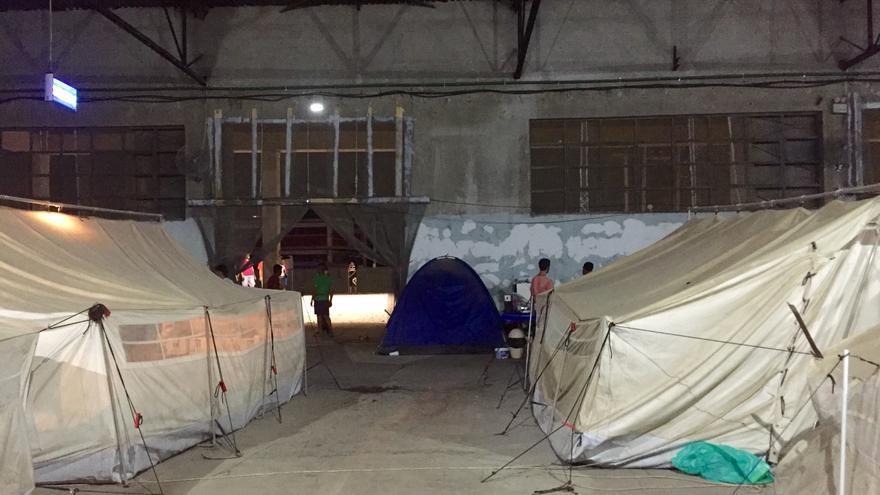 Campo de refugiados Soflex, en Salónica. | Arantza Diez