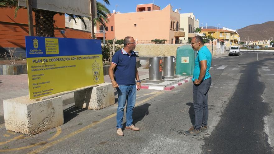 Obras de mejora de la red de agua de abasto en Santa Lucía.